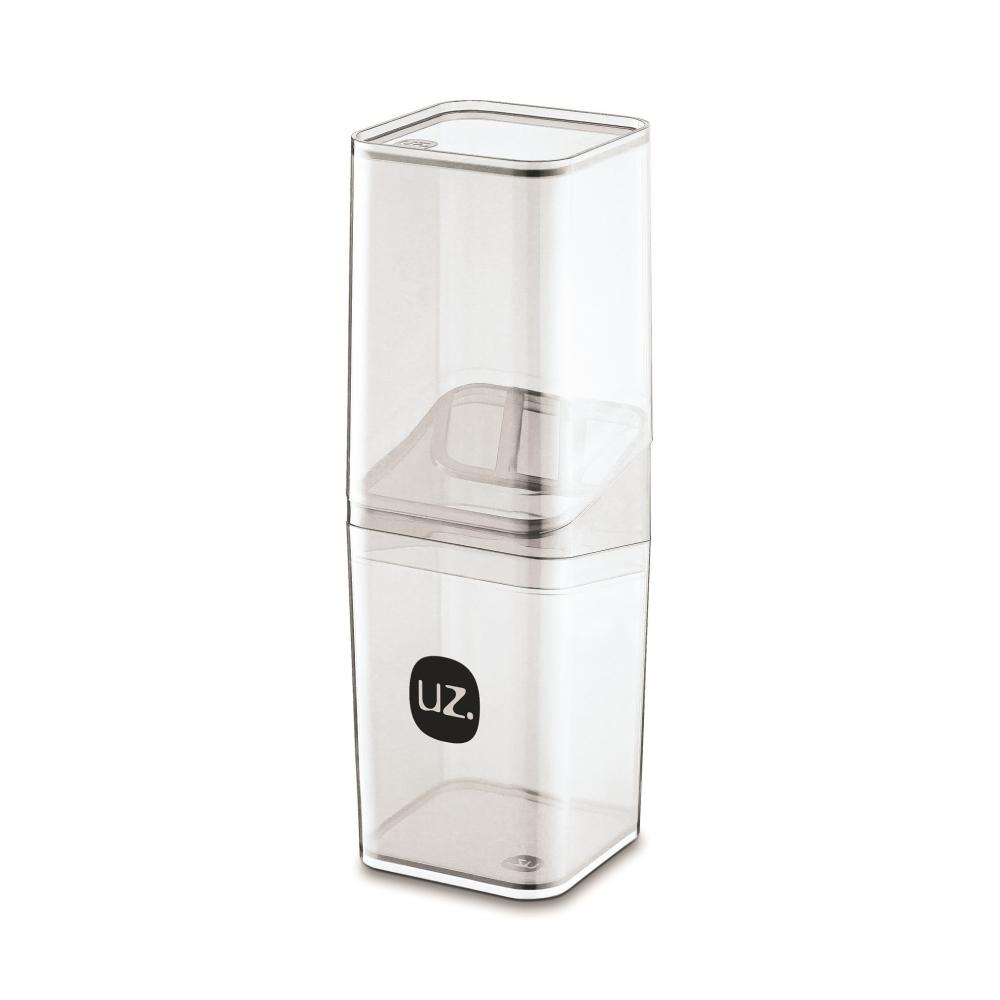 Porta Escova com Tampa Slim Translúcido de Plástico - UZ