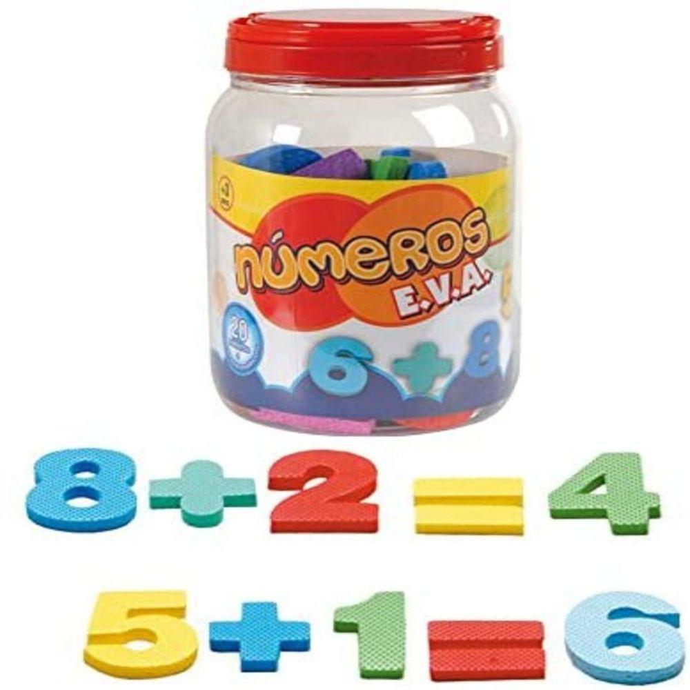 Pote Educativo com Numerais em EVA  - Nig Brinquedos