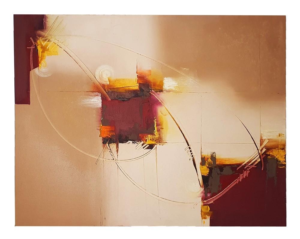 Quadro Pintura a Óleo Abstrato - COD. 02