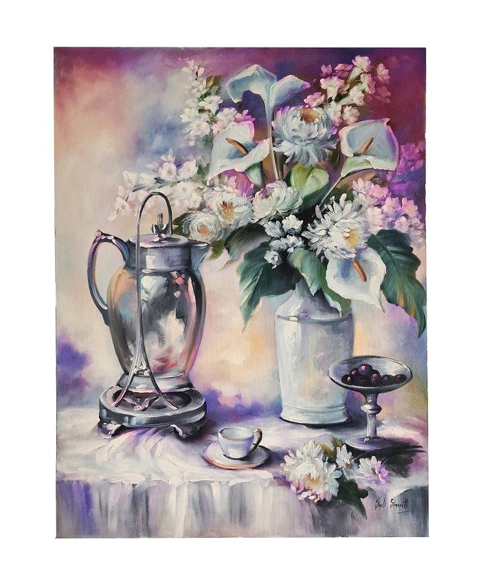 Quadro Pintura a Óleo Flores