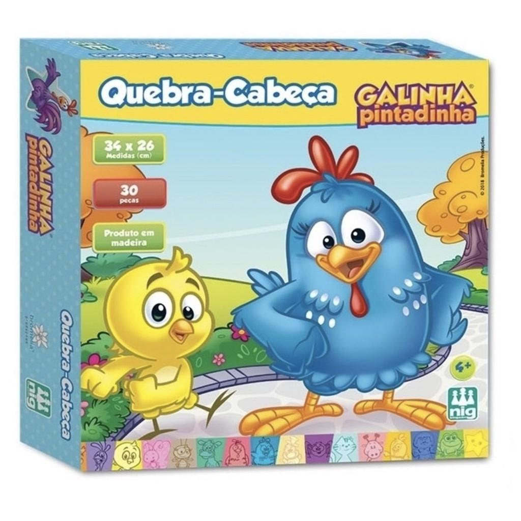 Quebra-cabeça de Madeira - Galinha Pintadinha - Nig Brinquedos
