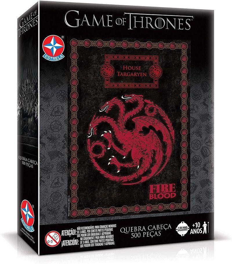 Quebra-Cabeça Game of Thrones Casa Targaryen 500 peças