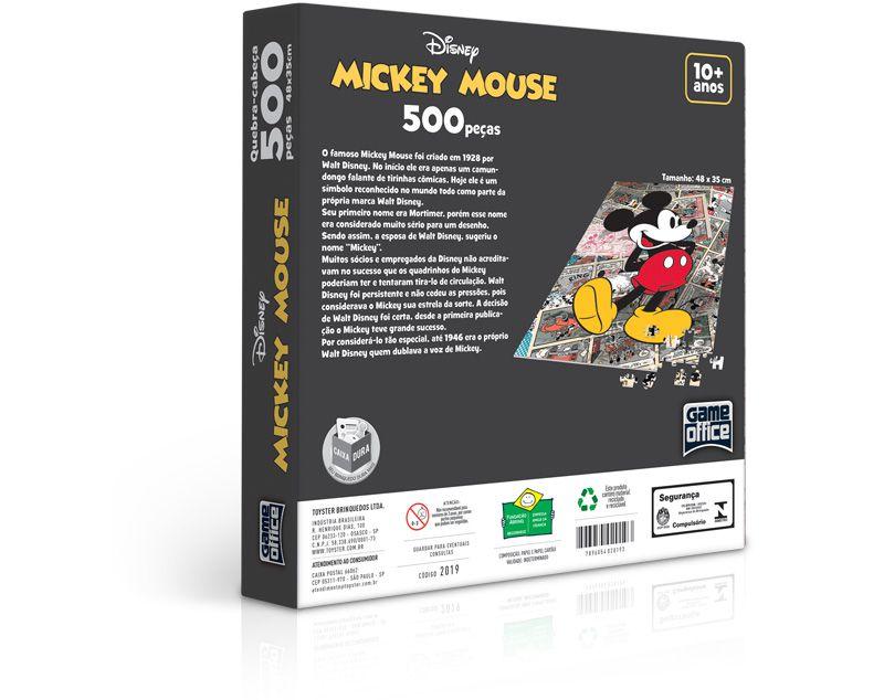 Quebra-cabeça Mickey Mouse - 500 peças