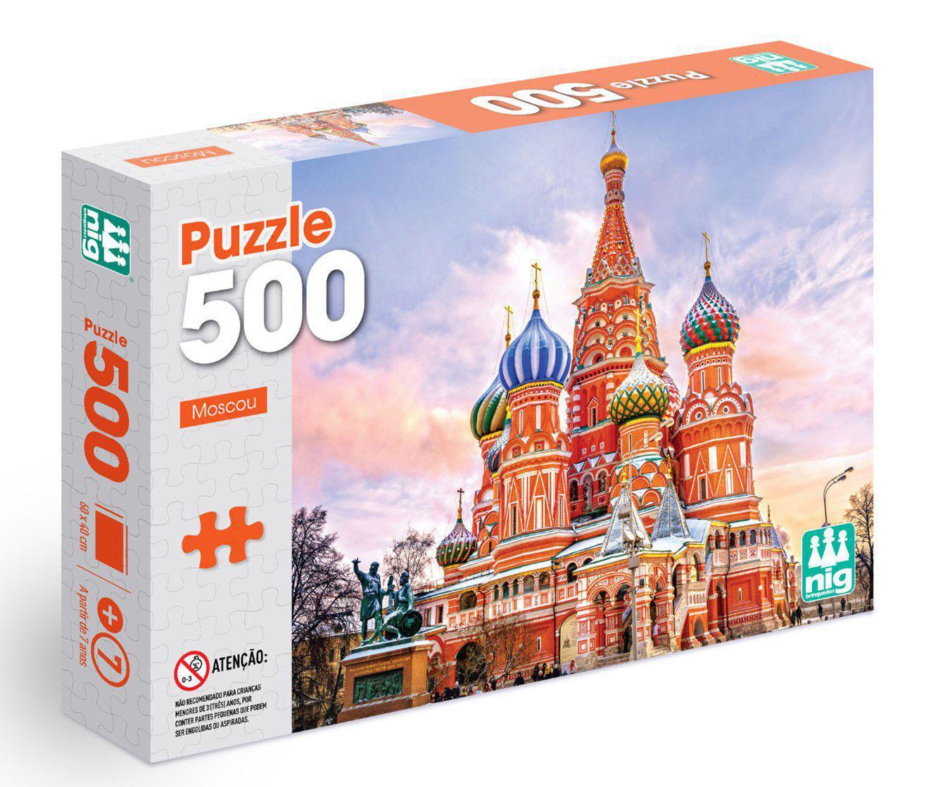Quebra-cabeça Moscou - 500 peças - Nig Brinquedos