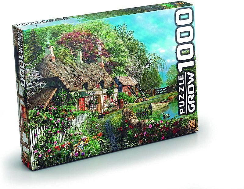 Quebra-cabeça (Puzzle) 1000 peças Casa no Lago