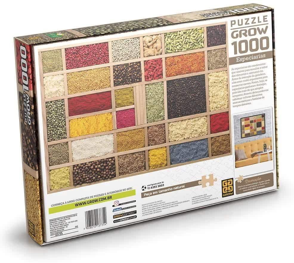 Quebra-cabeça (Puzzle) 1000 peças Especiarias
