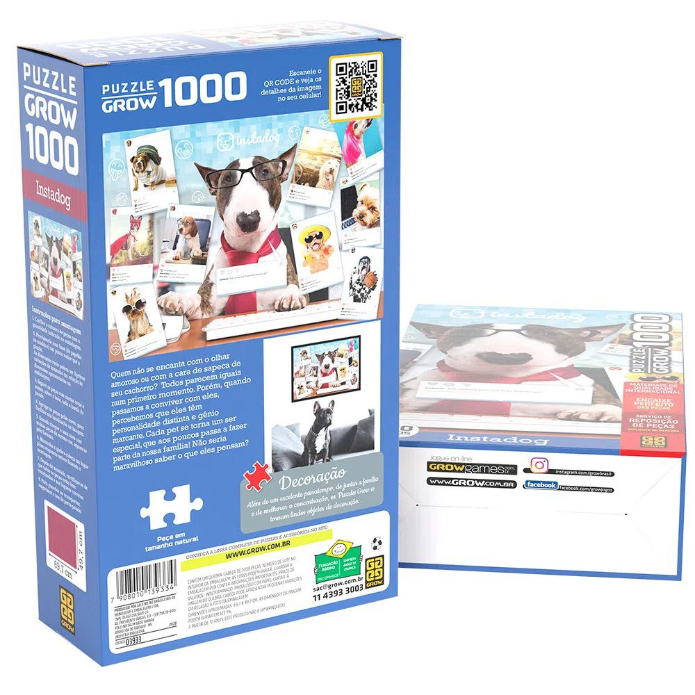 Quebra-cabeça (Puzzle) 1000 peças Instadog