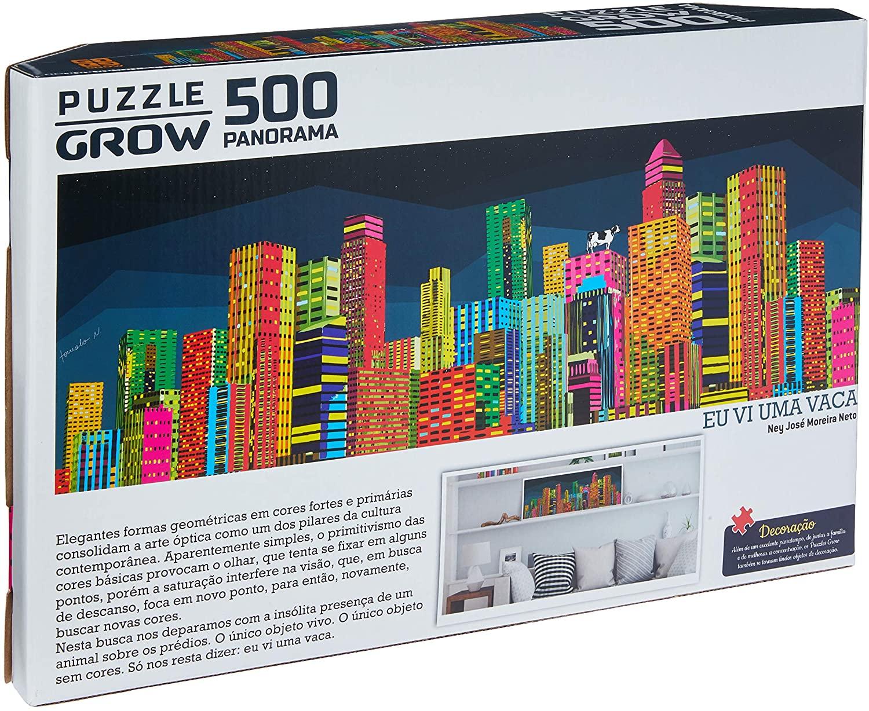 Quebra-cabeça (Puzzle) 500 peças Panorama Eu vi uma vaca