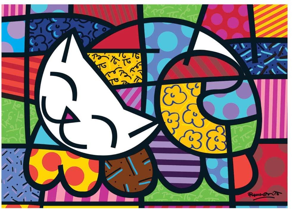 Quebra-cabeça (Puzzle) 1000 peças Romero Britto - Cat
