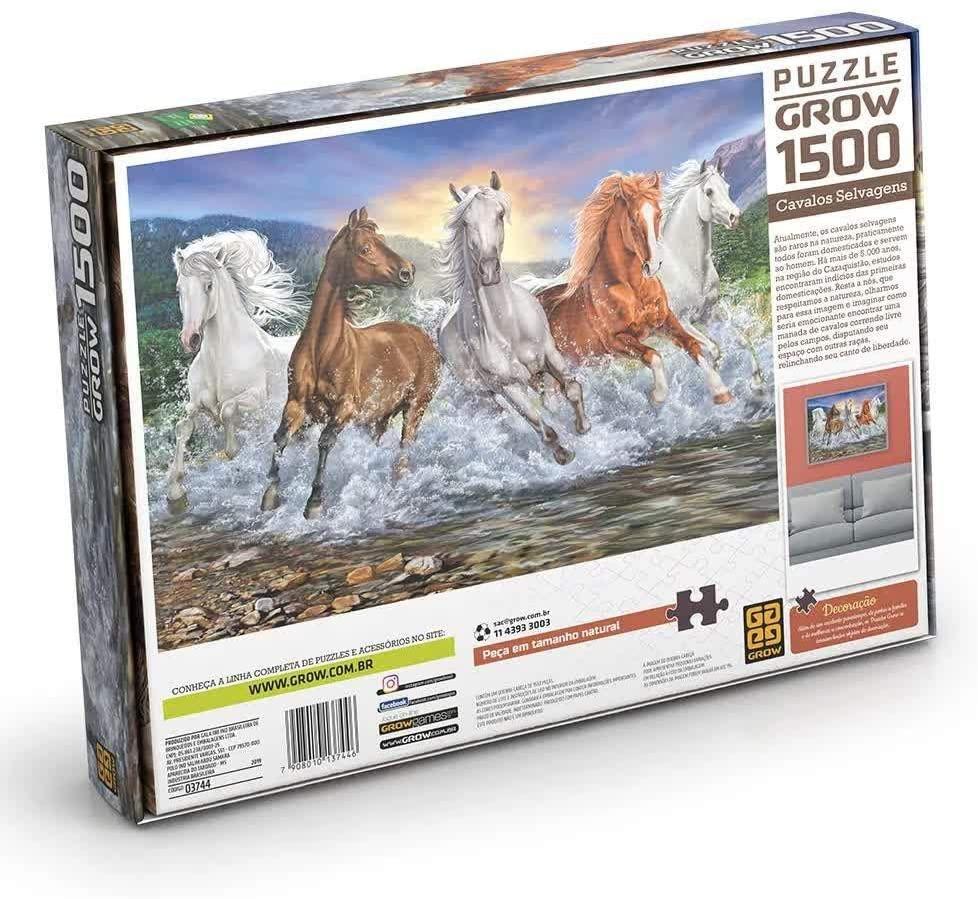 Quebra-cabeça (Puzzle) 1500 peças Cavalos Selvagens