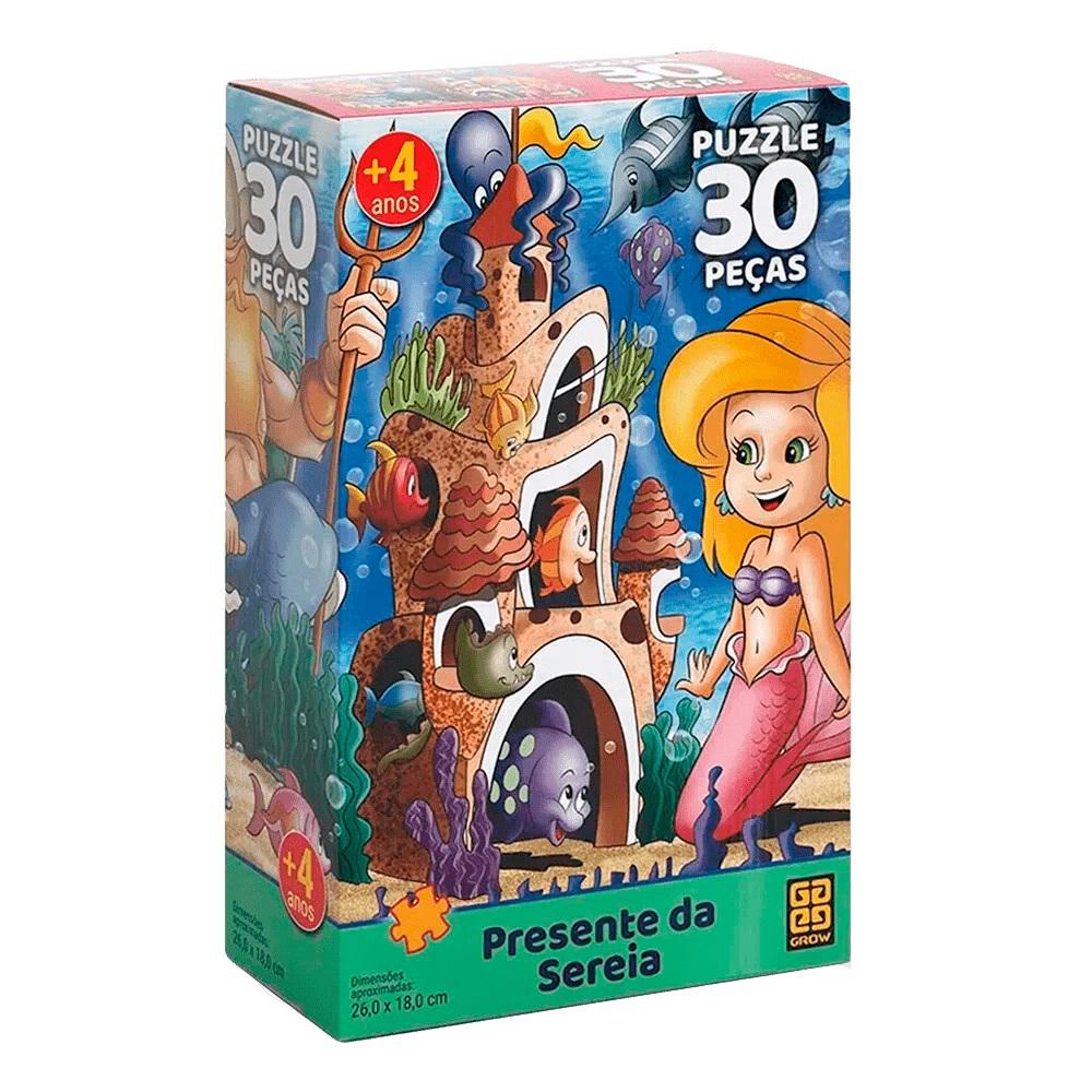 Quebra-cabeça (Puzzle) 30 peças Presente da Sereia