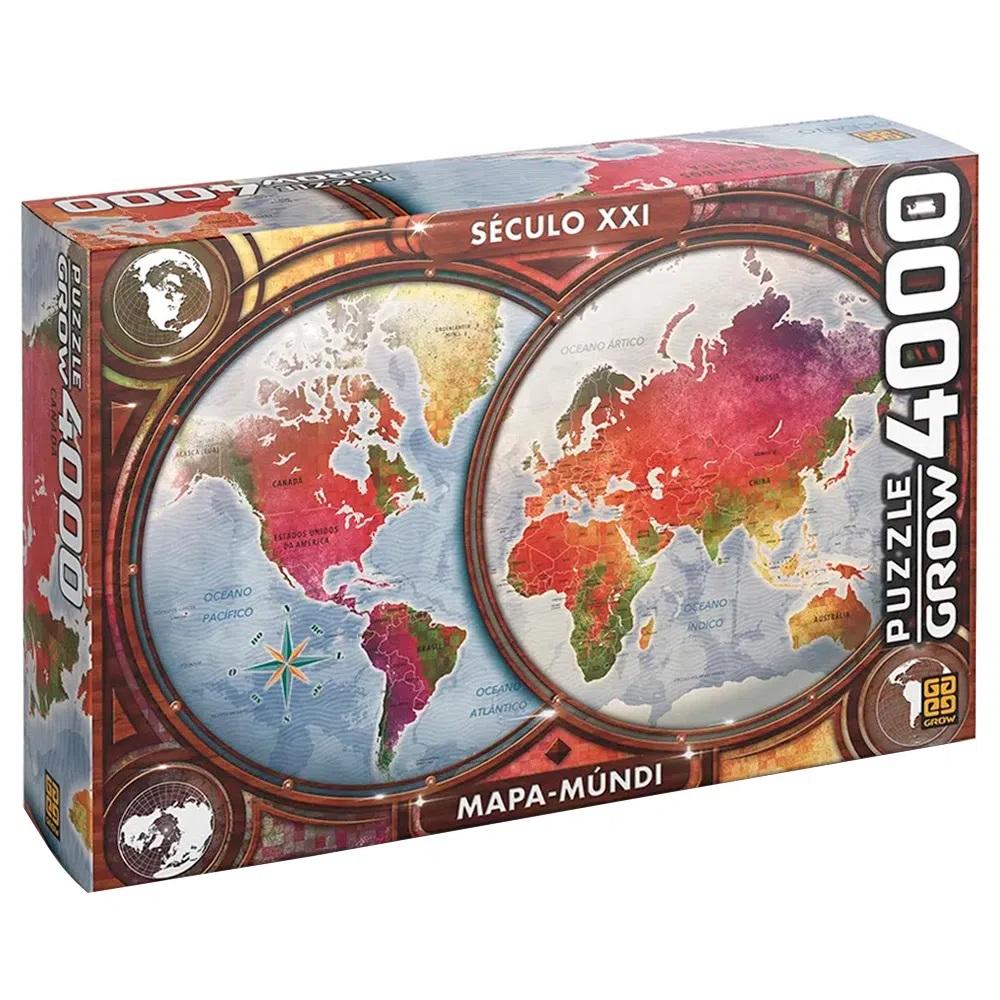 Quebra-cabeça (Puzzle) 4000 peças Mapa Mundi