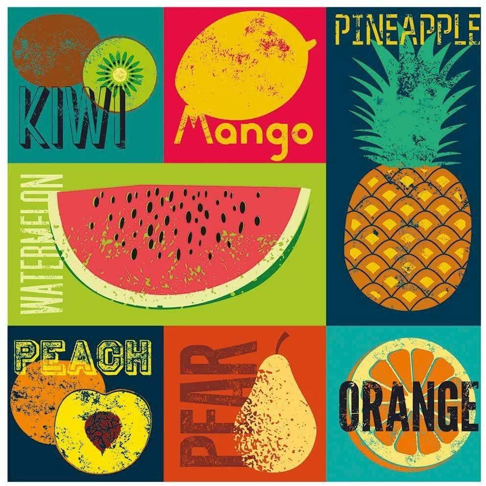 Quebra-cabeça (Puzzle) 4 x 300 peças Decorart Pop Art Fruits