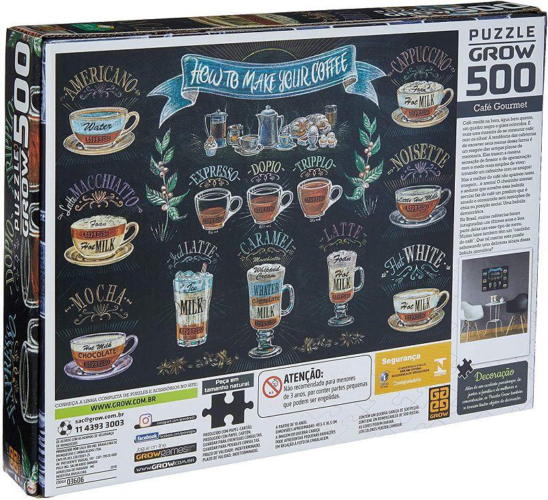 Quebra-cabeça (Puzzle) 500 peças Café Gourmet