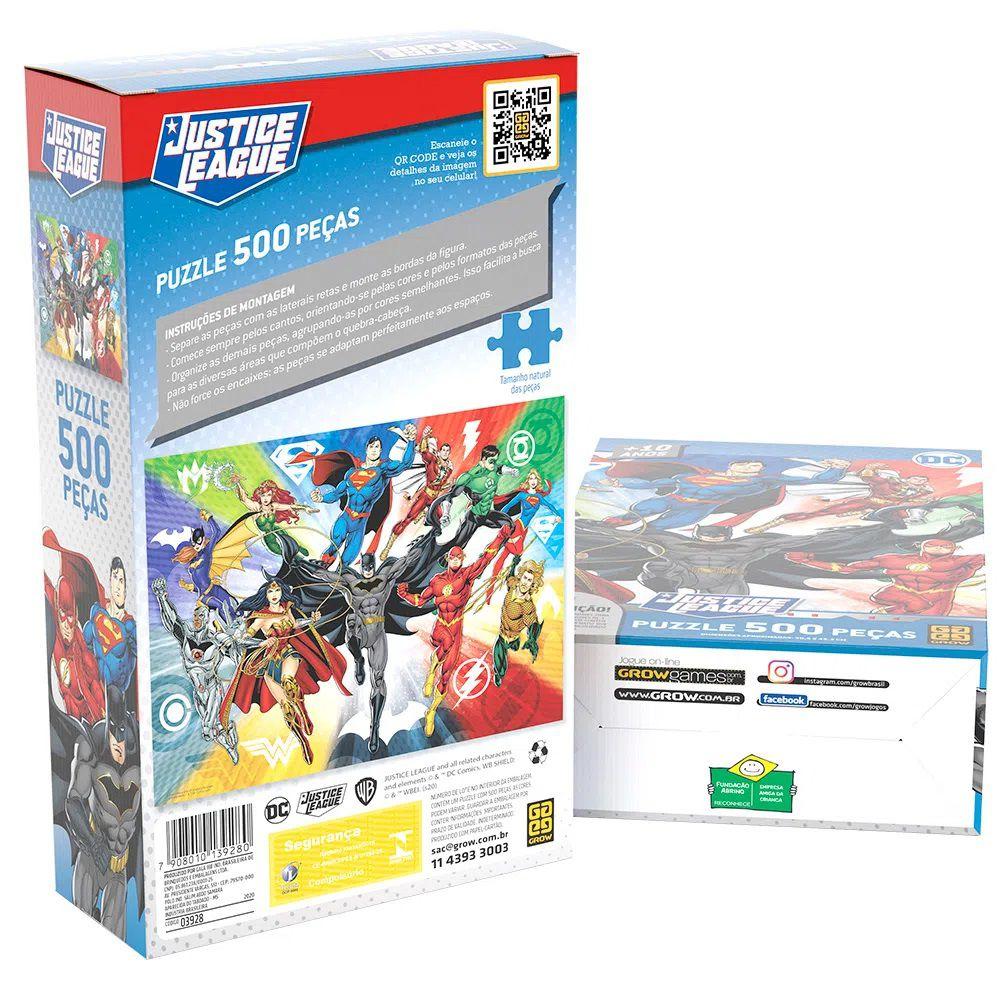 Quebra-cabeça (Puzzle) 500 Peças Liga da Justiça