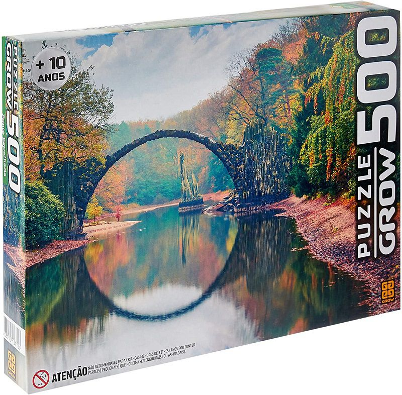 Quebra-cabeça (Puzzle) 500 peças Ponte Espelhada