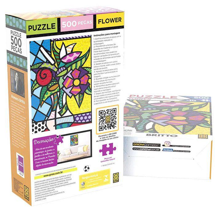 Quebra-cabeça (Puzzle) 500 peças Romero Britto Flowers