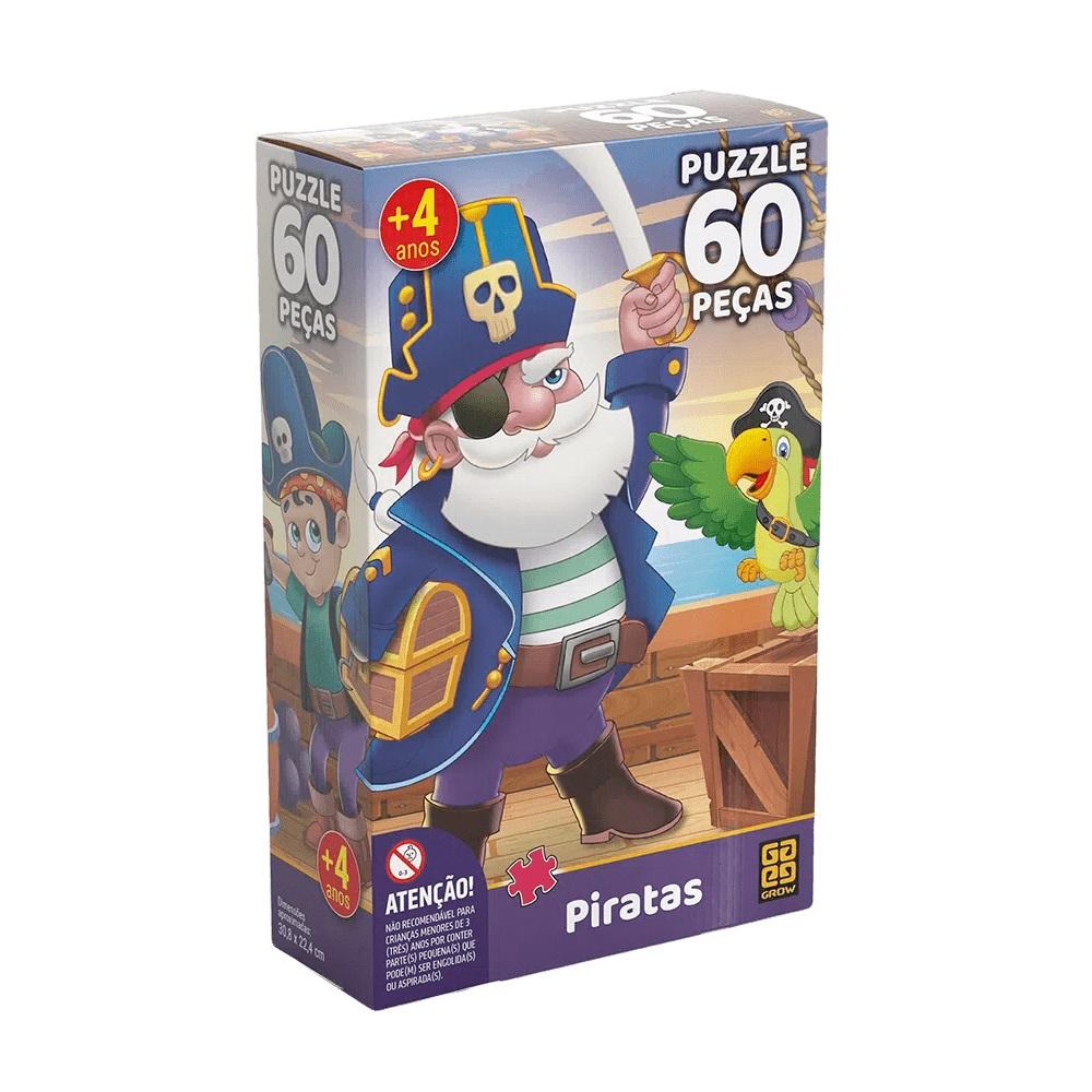 Quebra-cabeça (Puzzle) 60 peças Piratas
