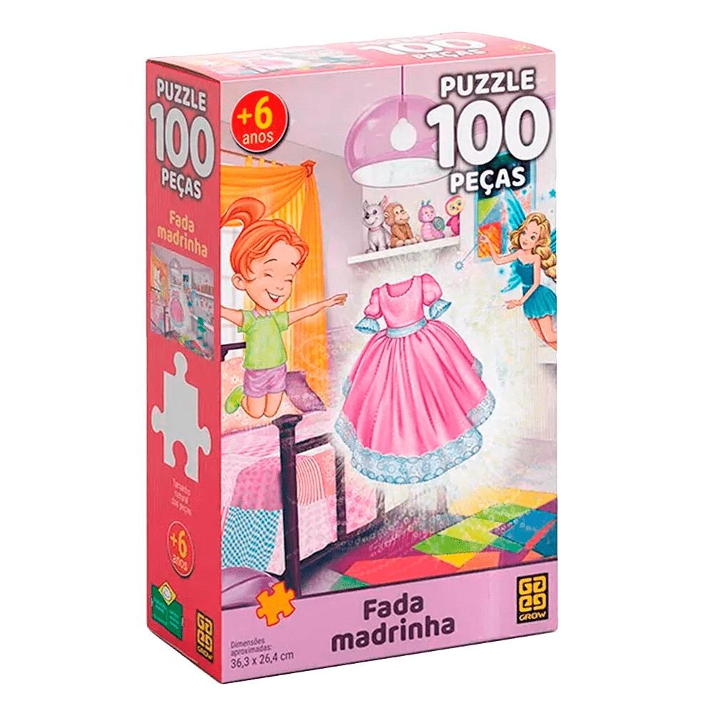 Quebra-cabeça (Puzzle) 100 Fada Madrinha