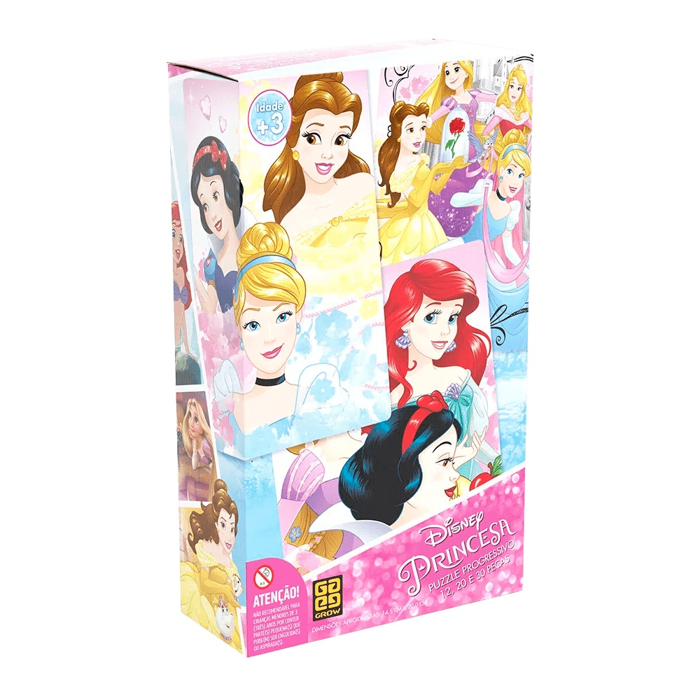 Quebra-cabeça (Puzzle) Progressivo Princesas