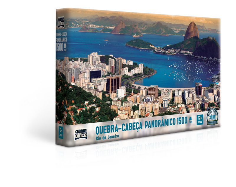 Quebra-cabeça Rio de Janeiro Panorâmico - 1500 peças