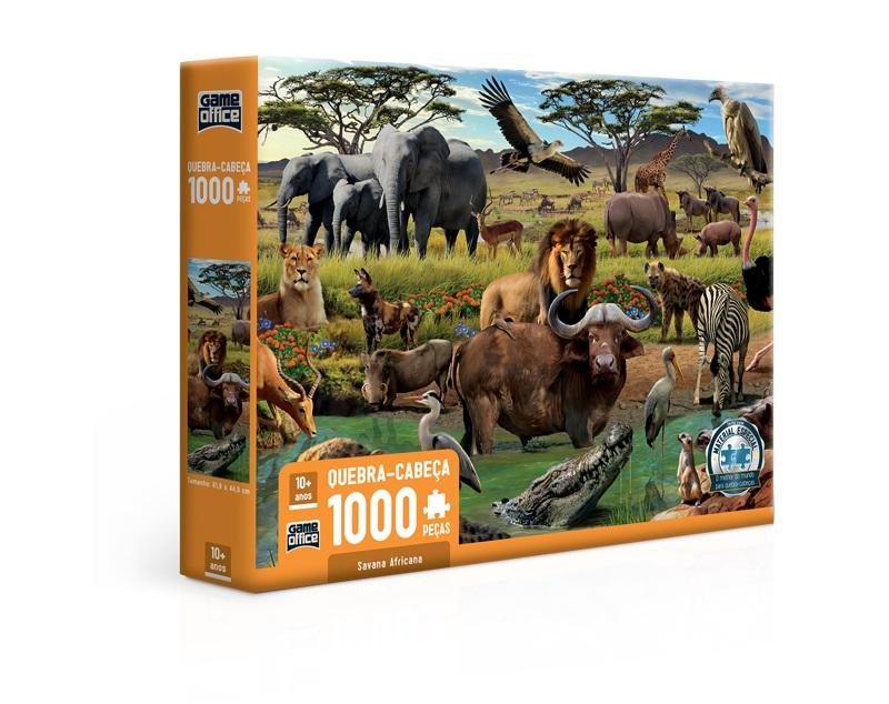 Quebra-cabeça Savana Africana - 1000 peças
