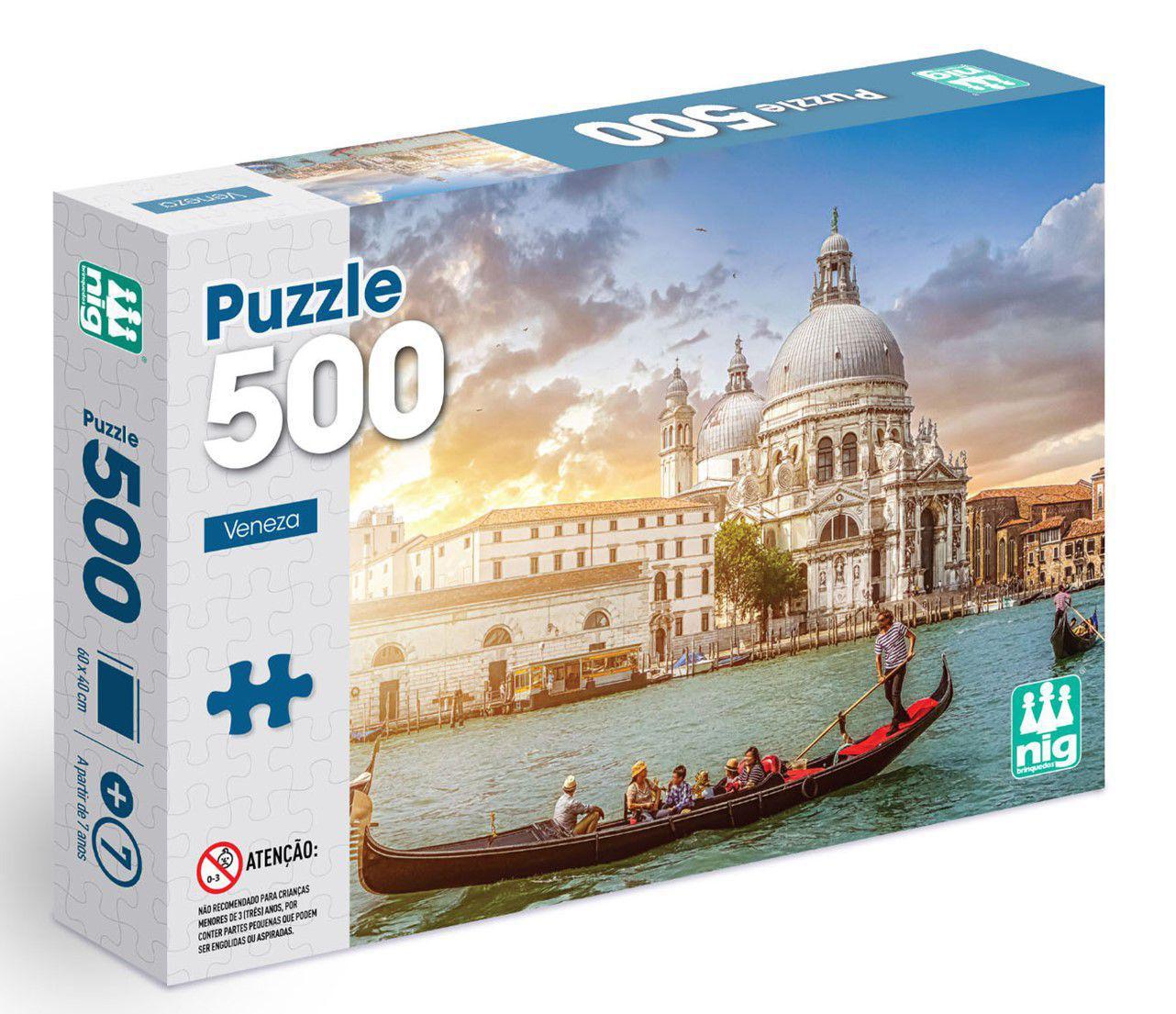Quebra-cabeça Veneza - 500 peças - Nig Brinquedos