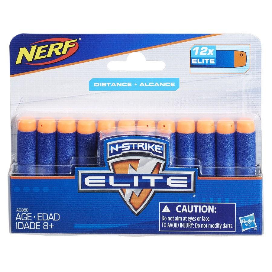 Refil Nerf Elite Dardos C/12 Unidades (A0350)