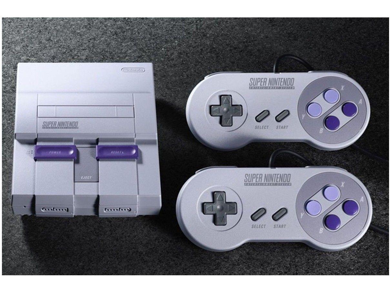 Super Nintendo Classic Edition Compacto - 2 Controles Conexão HDMI e USB 21 Jogos na Memória