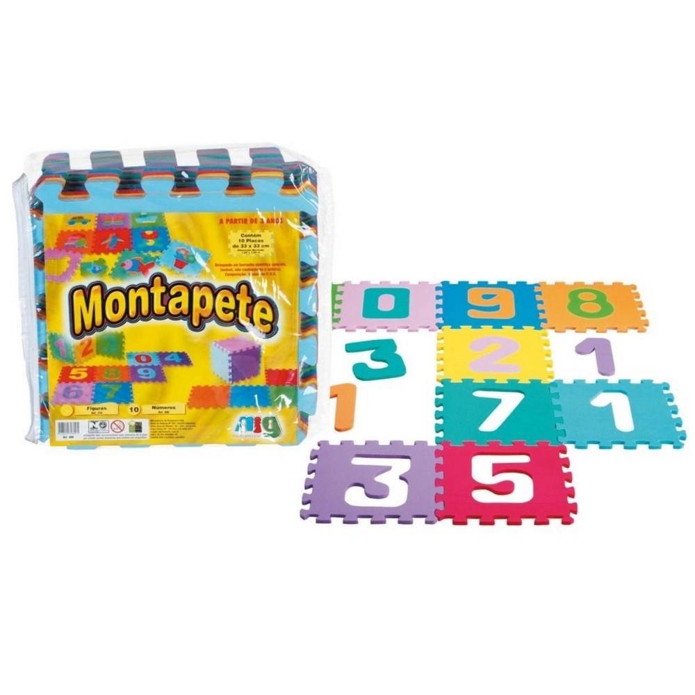 Tapete Infantil EVA com 10 Números - Nig Brinquedos