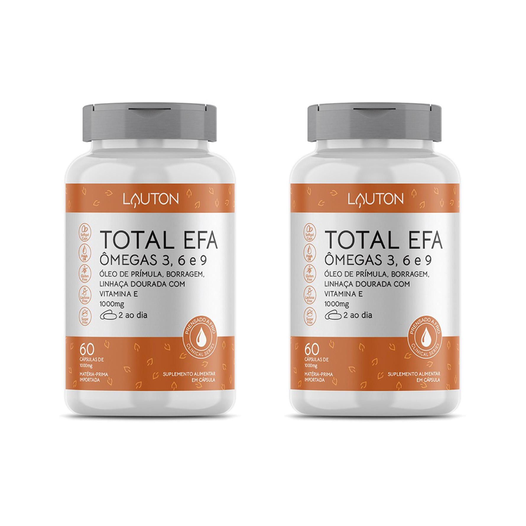 Total Efa, Ômegas 3, 6 e 9 - 60 Cápsulas - Lauton Nutrition (2 Unidades)