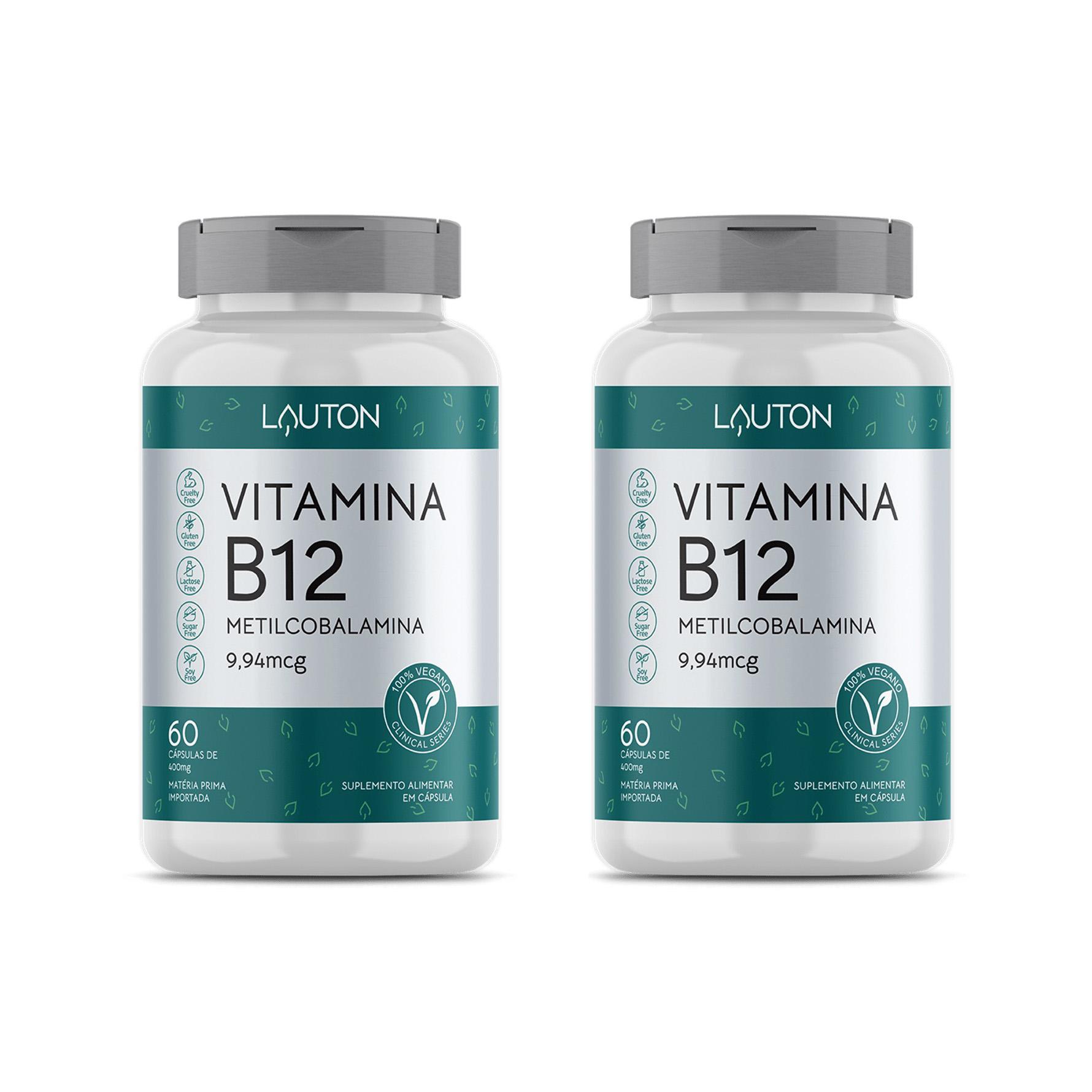 Vitamina B12 9,94mcg - 60 Cápsulas - Lauton Nutrition (2 Unidades)