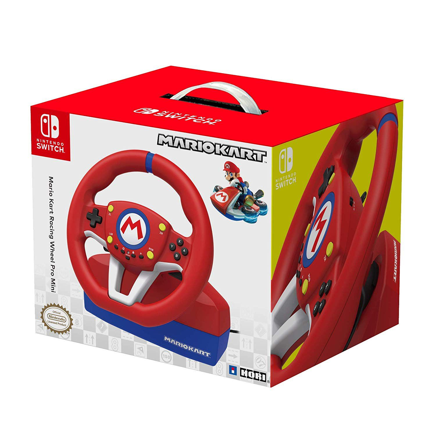 Volante para Nintendo Switch Mario Kart Racing Wheel PRO Mini - Vermelho