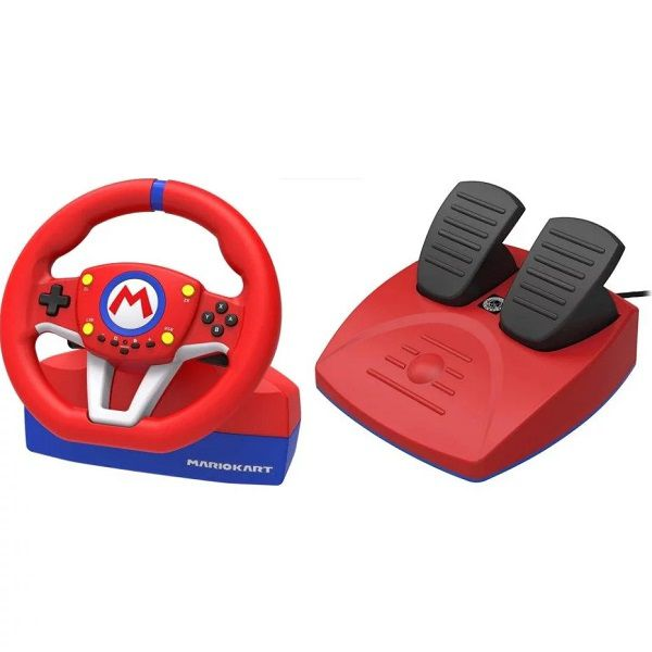 Volante para Nintendo Switch Mario Kart Racing Wheel PRO Mini - Vermelho