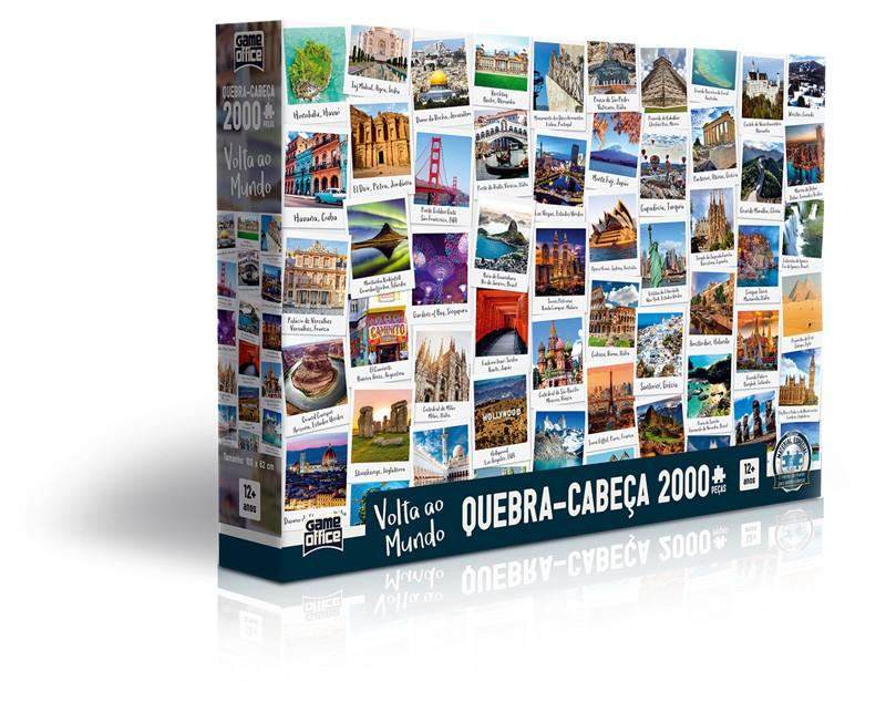 Volta ao Mundo – Quebra-cabeça 2000 peças