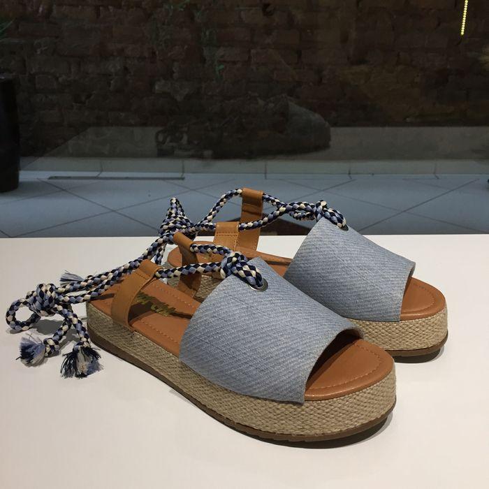 Espadrille Jeans com Detalhe de Amarração Sua Cia