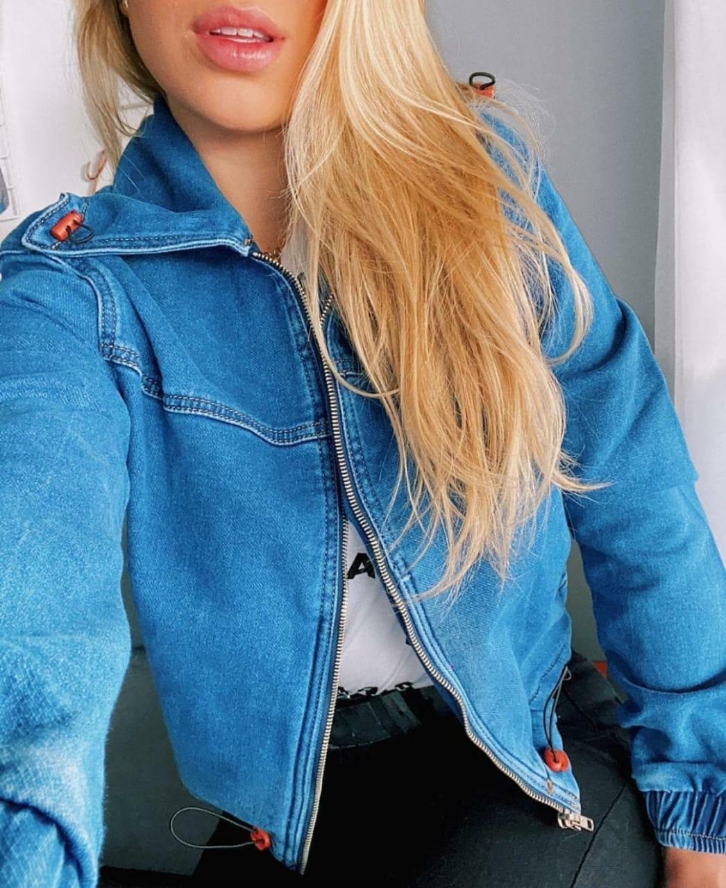 Jaqueta de Moletom Jeans