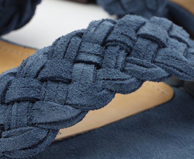 Rasteira Azul Safira Tranças Anacapri