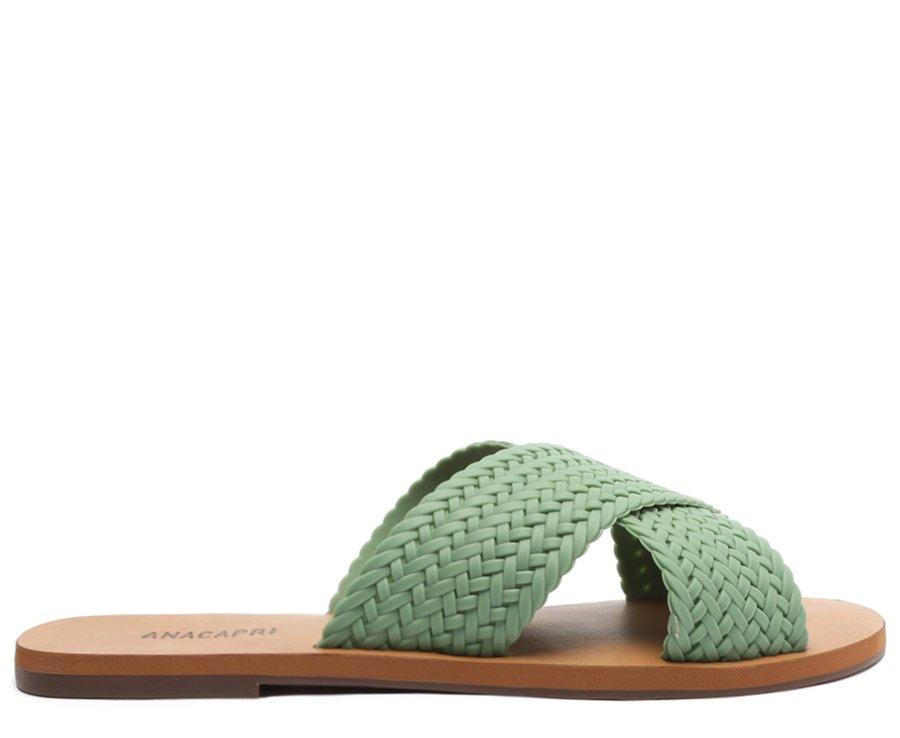 Rasteira Verde Jaspe Color Vibes Trançada Anacapri