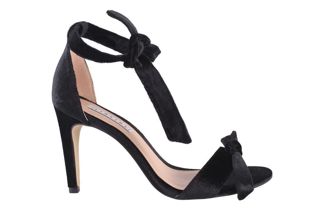 Sandália de Veludo com Laço Lia Line