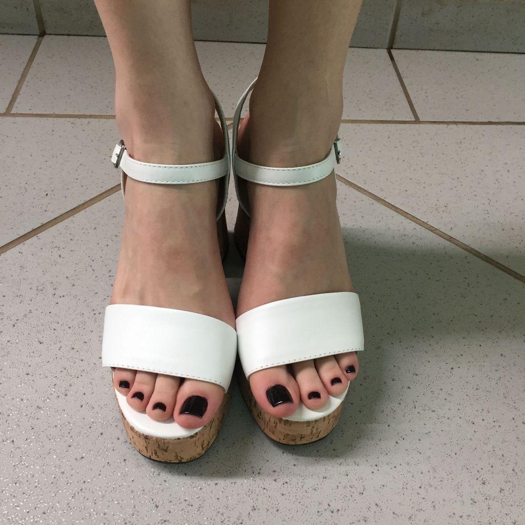Sandália Meia Pata Branca com Salto Cortiça Liêz