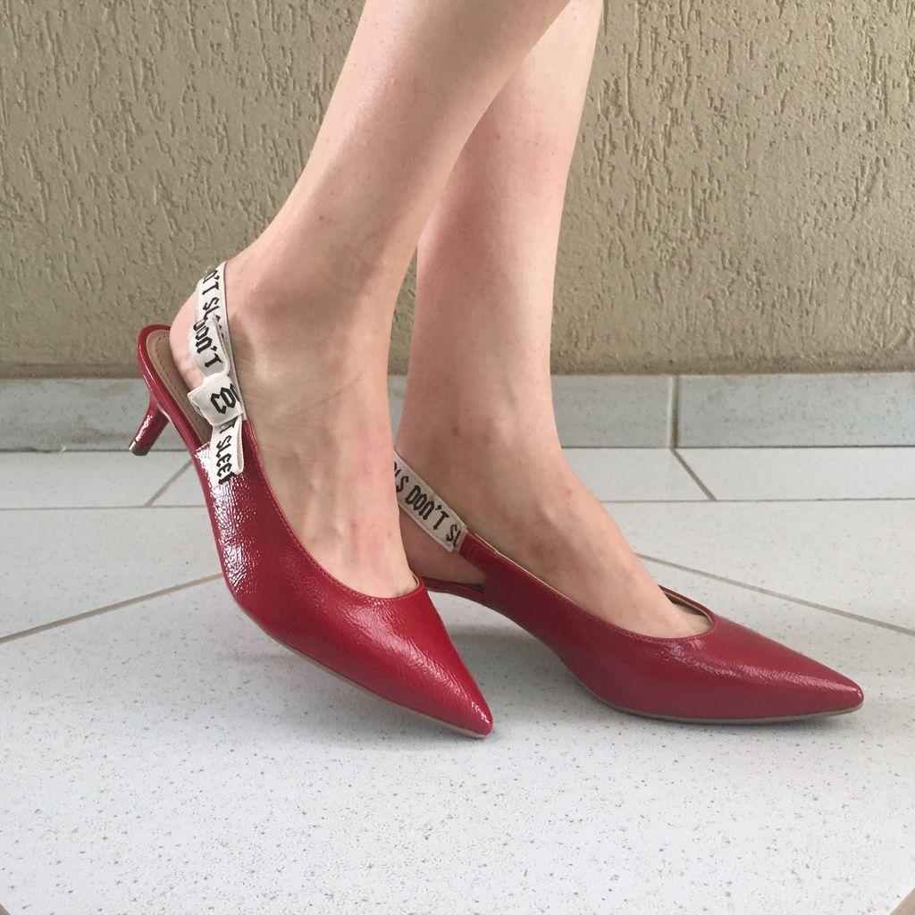 Scarpin com Detalhe de Fita Gorgurão Suzana Santos