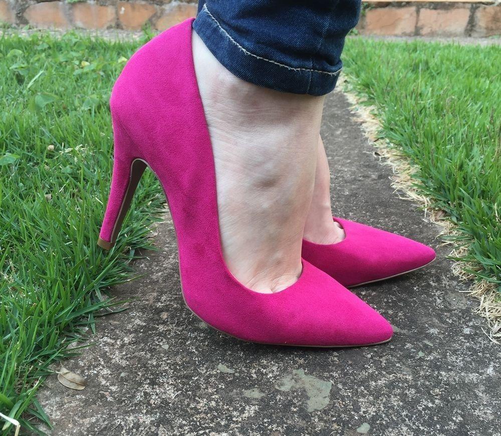Scarpin de Camurça Pink Offline