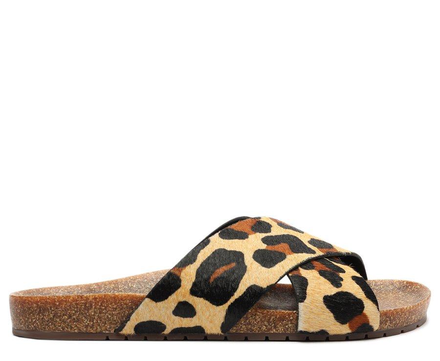 Slide Animal Print Tiras Cruzadas Anacapri