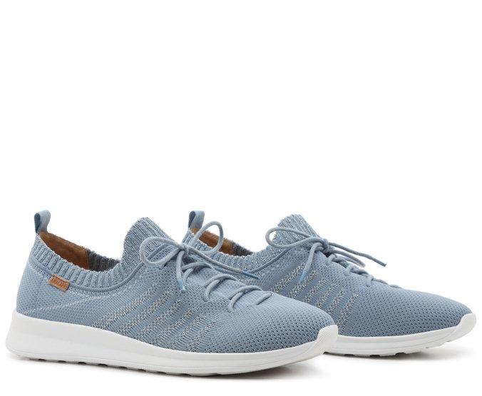 Tênis Azul Jeans Knit Brilho Anacapri