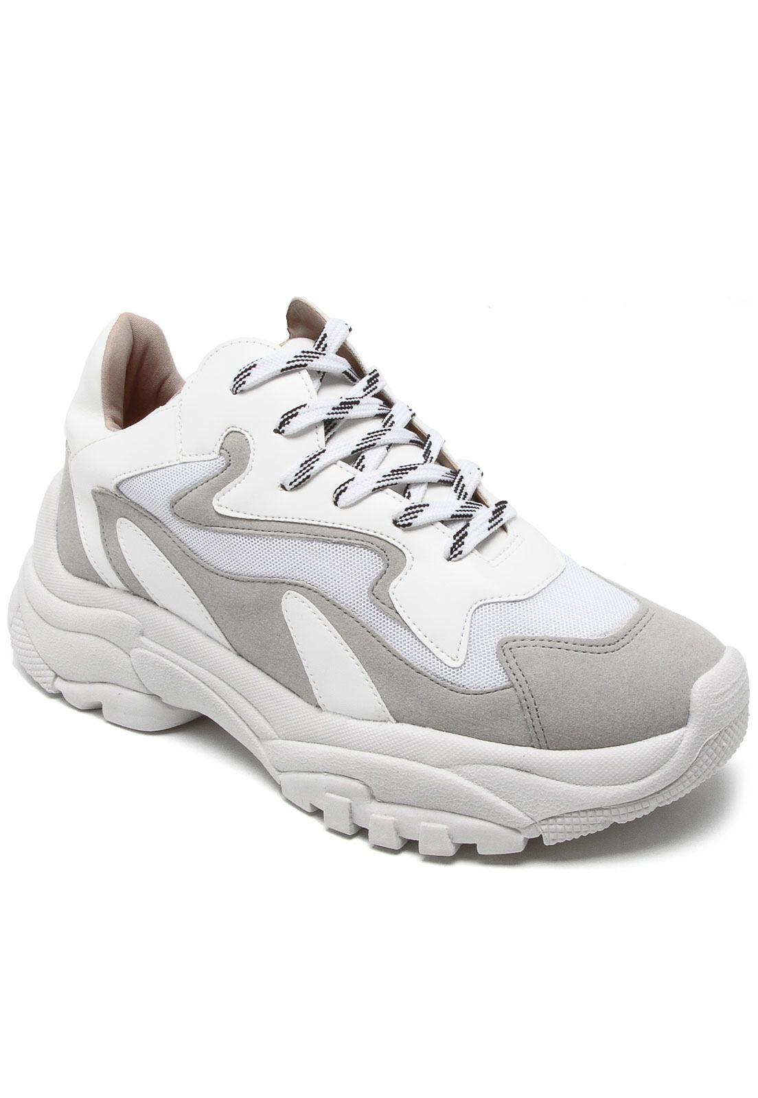 Tênis Chunky Sneaker Branco com Gelo Zatz