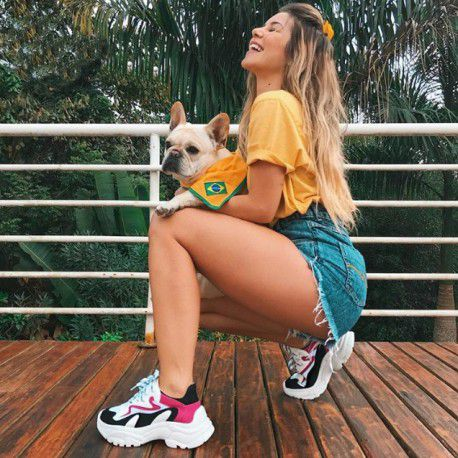Tênis Chunky Sneaker Pink com Preto Zatz