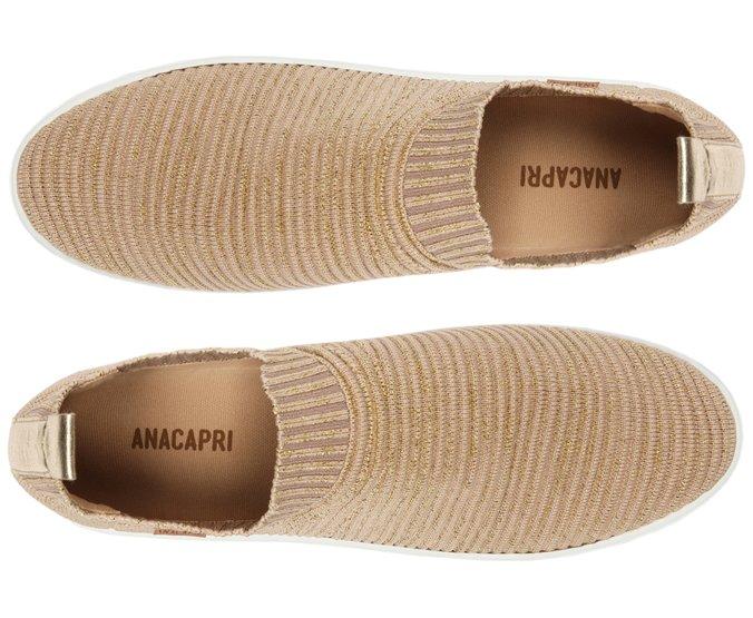 Tênis Slip On Knit Bege Anacapri