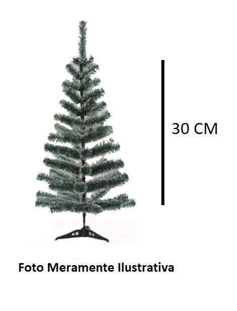 Árvore de Natal com Galhos Verde Cheios de Neve - 30 cm