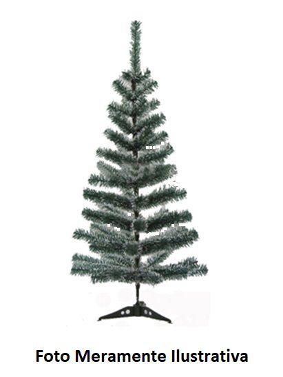 Árvore de Natal com Galhos Verde Cheios de Neve - 90 cm